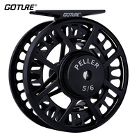Goture PELLER 5/6 7/8 WT Fly Fishing Reel CNC Machined Large Arbor Fly Reel For Bass Trout Redfish 2+1BB 1:1