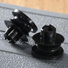 50Pcs Plastic Rivet Fastener Clips 10mm Hole Car Door Trim Panel Auto Bumper Fender Retaining Clip For Volkswagen