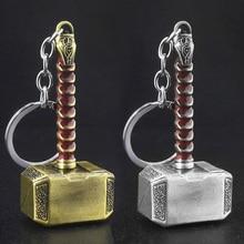 цены SG High Quality Avengers Thor Hammer Keychain Pendants Thanos Infinite Gloves Keyring Iron Man Llaveros Car Cosplay Jewelry