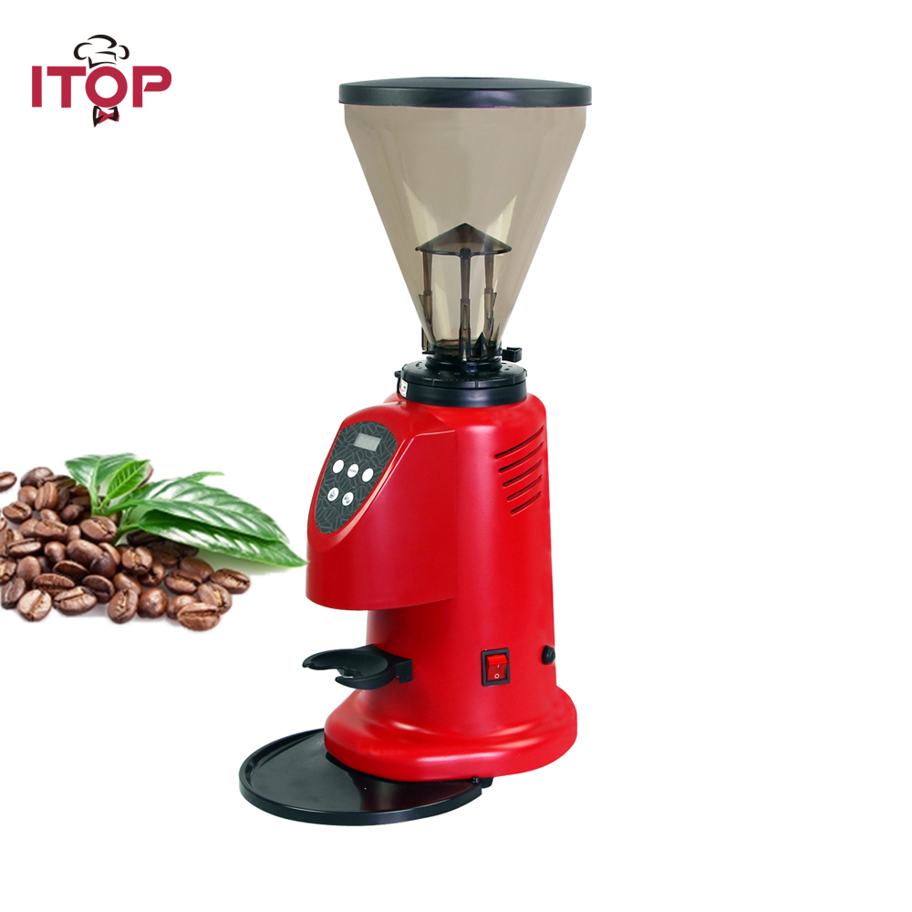 цена на ITOP Professional Coffee Bean Grinder Commercial Milling Machine 6-9kgs/h Red 350W Power
