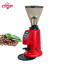 ITOP Professional Coffee Bean Grinder Commercial Milling Machine 6-9kgs/h Red 350W Power