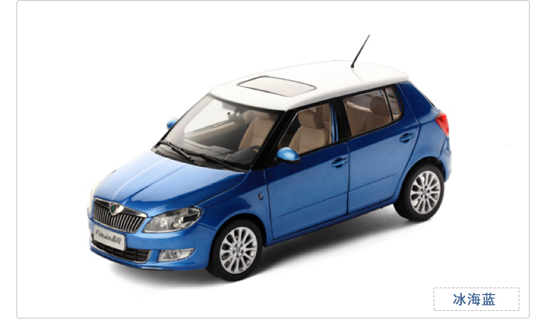 все цены на 1:18 Diecast Model for Skoda Fabia 2013 Blue SUV Alloy Toy Car Miniature Collection Gifts онлайн