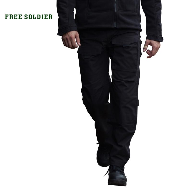 Prix pour Free soldier alpinisme pantalon hommes quatre saisons multi-poche ykk zipper camping équitation randonnée pantalon