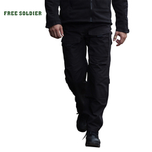 FREE SOLDIER Outdoor Sports Camping Hiking Tactical Pants Men's Trousers Four Seasons Multi-pocket YKK zipper(China)