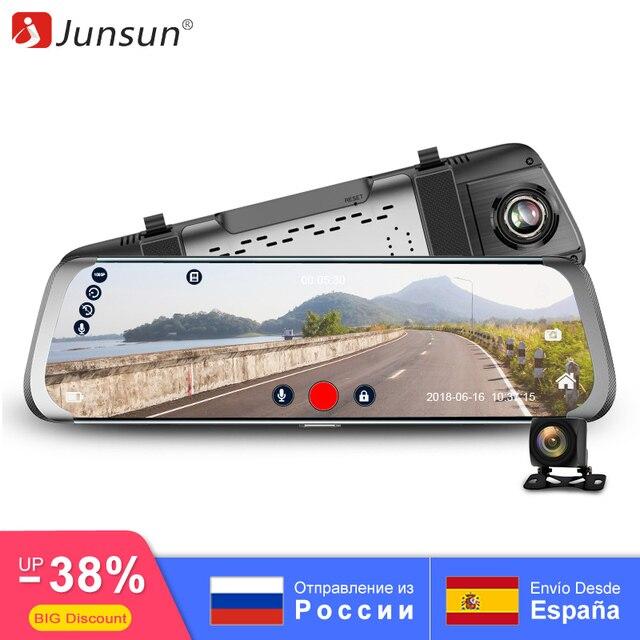 """Junsun Видеорегистраторы для автомобилей 10 """"поток Зеркало заднего вида 4 г android-даш Камера Avtoregistrator FHD 1080 P регистраторы регистратор видео Регистраторы"""