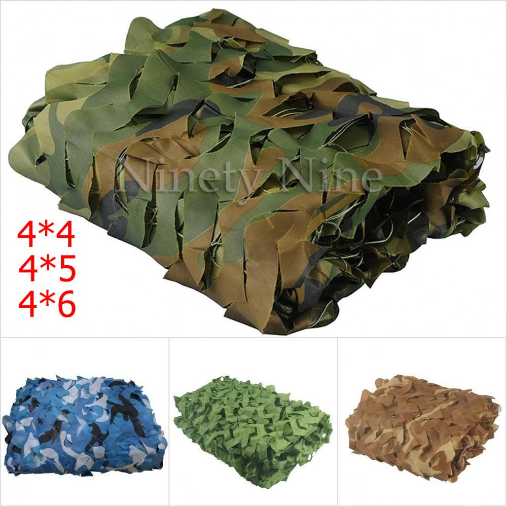 4x4m To 4x6m Camping Military Camouflage Nets Woodland Army Camo Netting Camping Sun ShelterTent Shade Sun Shelter