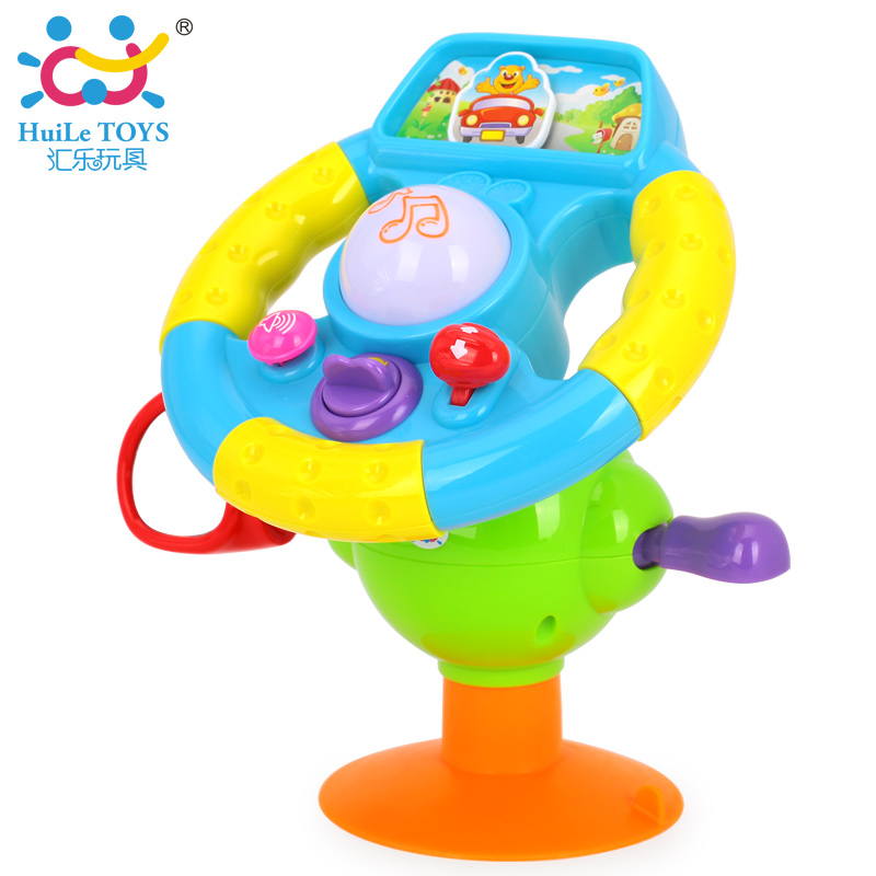 Baby Educational Toys Driving Steering Wheel Baby Driver Music And