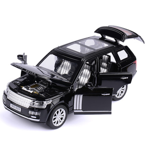 Image 1 - 1:32 Range Rover SUV Simulation Toy Car Model Alloy Pull Back Children Toys Collection Gift Off Road Vehicle Kids 6 open door