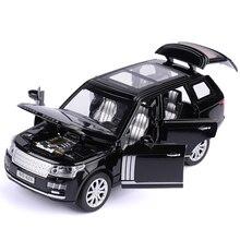 Range Rover jouet de Simulation de SUV, 1:32, en alliage, modèle de voiture, jouet pour enfants, Collection cadeau, véhicule tout terrain, 6 portes ouvertes