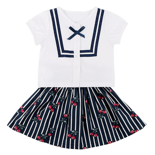 8fbc92f7a 2 PCs Summer Soft Baby Girl s Clothes Set Cotton Short Sleeve Top ...
