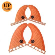 Surfboard fin Future G5+GL 4pcs per set Orange color quad Honeycomb Fiberglass fins in surfing