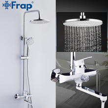 FRAP robinets mélangeur de baignoire douche, robinet de douche de salle de bain robinets de douche de bain robinets de douche à chute deau ensemble de pomme de douche à chute deau robinet de baignoire