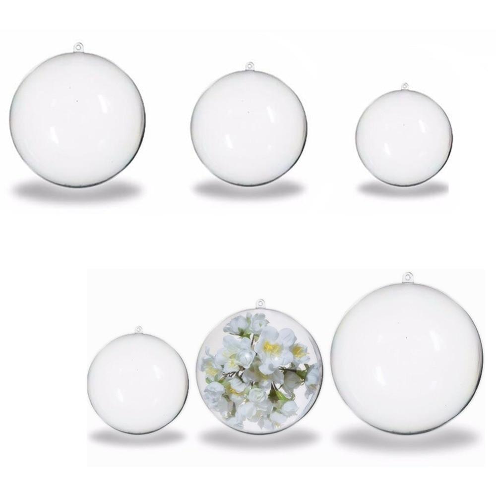 Clear plastic ornaments - Christmas Tree Decorations Ball 4cm 5cm 6cm Acrylic Transparent Open Plastic Clear Sphere Bauble