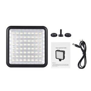 Image 5 - Светодиодная мини лампа Andoer для камеры, осветительная панель с регулируемой яркостью для видеокамер Canon, Nikon, Sony, Panasonic, Olympus, Godox, 64 светодиода