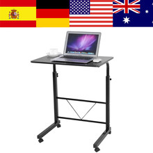 Height Adjustable Laptop Computer Table Standing Desk Movable Sofa Bedside Cart Tray Table Desk Camping Outdoor Picnic Desk(China)