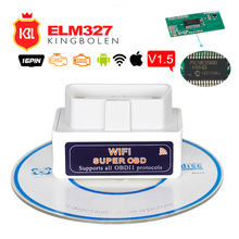 ELM327 Hardware WIFI V1.5 compatible con Android/iOS/Windows con PIC18F25K80 ELM 327 Wi-Fi diésel coches Super OBD2 código escáner(China)