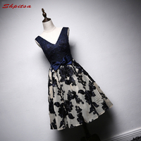 Sexy Navy Blue Cocktail Dresses Party Short Plus Size Women Graduation Semi Formal Homecoming Prom Dress Coctail Dress