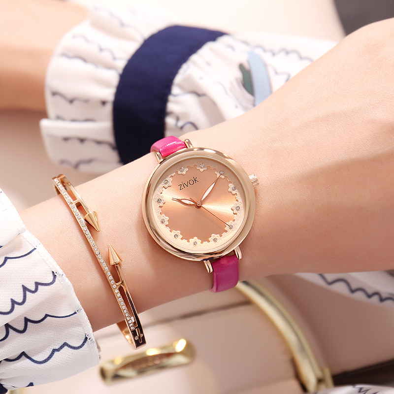 zivok Fashion Brand Women Watches Luxury Red Lovers Bracelet Wrist Watch Clock Women Relogio Feminino Ladies Quartz Wristwatch relogio feminino sinobi watches women fashion leather strap japan quartz wrist watch for women ladies luxury brand wristwatch
