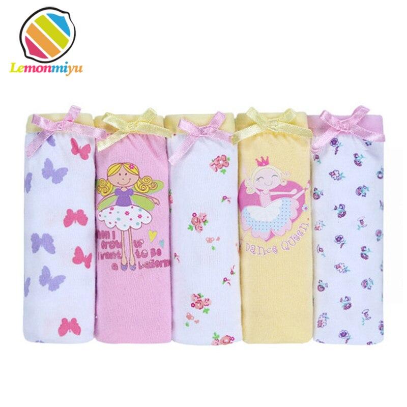 2016 Fashion New 5pcs/pack Baby Girls cartoon Underwear 100% Cotton Panties For Girls Kids Short Briefs Children Underpants