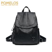 POMELOS Fashion Backpack High Quality PU Leather Women Rucksack Female Bagpack 2019 Woman Black Travel