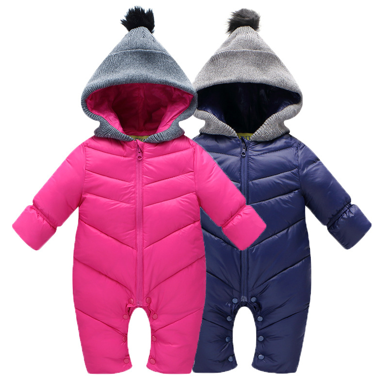 Winter Keep Warm Baby Rompercotton-padded One Piece cotton-padded jacket Jumpsuit baby wear Kid Climb Clothes YL230 han edition printing cotton padded jacket is beautiful and comfortable small cotton padded jacket of cultivate one s morality