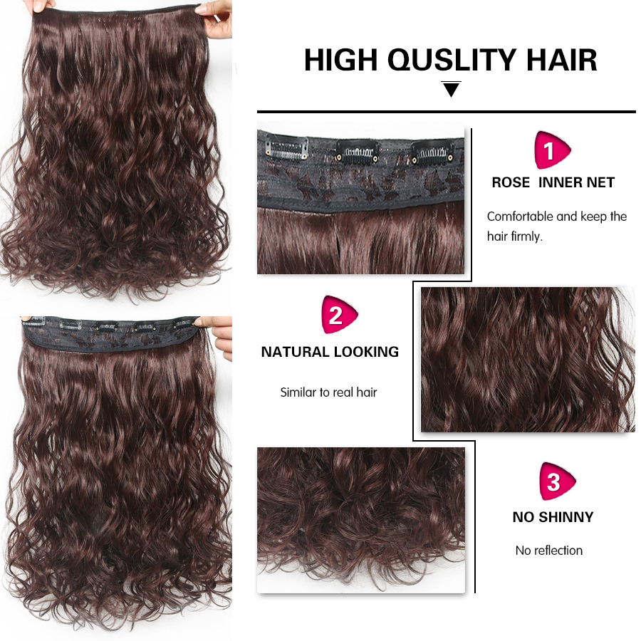 Suri Hair 24 inches 5Clips i Hair Extensions Bouncy Curly Real - Syntetiskt hår - Foto 3