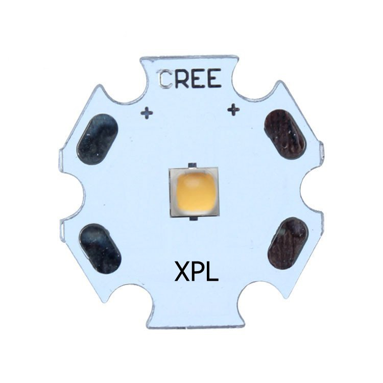 5pcs/lot US.CREE XPL Beads Warm White 10W High Power LED Chip, 2700~3500K with PCB Board