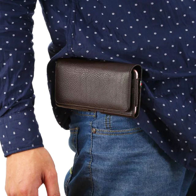 Outdoor Strap Hand Man Belt Clip Mobile Phone Case Bag For Asus Zenfone Go ZB500KL Zenfone