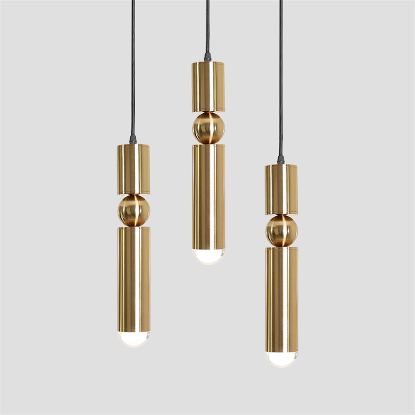 Modern Light LED E14 Crystal Chandelier Lighting Cylindrical Copper Pendant Lamps Bedroom Living Room Dining Office Hanging Lamp nordic country style simple retro octagonal crystal lamp living room dining room bedroom chandelier e14 led hanging lamp light