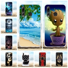For Huawei P Smart Plus 2019 Case Soft TPU Silicone Enjoy 9s AL00a Cover Scenery Patterned Maimang 8 Shell