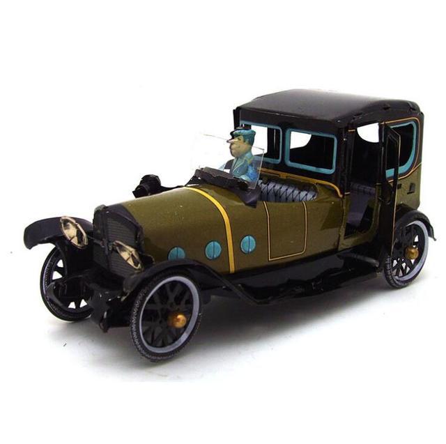 Clásico nostalgia retro reloj del metal del coche toys regalos de los niños