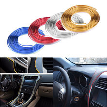 5M Car Interior Decoration Strips Moulding Trim Dashboard Door Edge Auto Accessories Car Styling Universal Fit Squeegee Scraper(China)