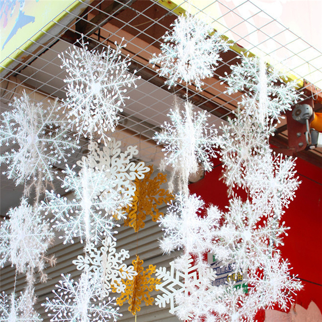 xmas decorations for christmas tree ornaments snowflake wedding favor birthday party theme decoration festival new year