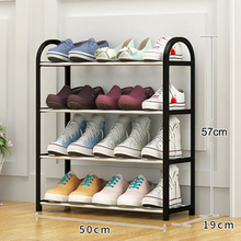 цена на 4 Tiers Practical Shelf Shoe Rack Space Saving Storage Organizer Free Standing Shoes Tower Rack Home Bathroom Organizer Stand