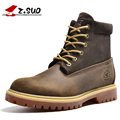 Fashion genuine leather men's boots  stylish men's shoes genuine leather men's casual shoes Martin Boots