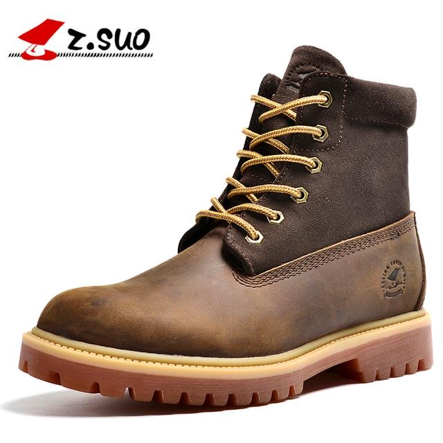 La moda de cuero genuino botas de los hombres con estilo de los hombres zapatos de los hombres de cuero genuino zapatos casuales Botas Martin