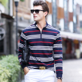 XXXL Size High Quality Real Men's Polo Shirts Brand Clothing Fashion Cotton Gray Shirt poloes Long Sleeve Camisa Polo Meal Wear