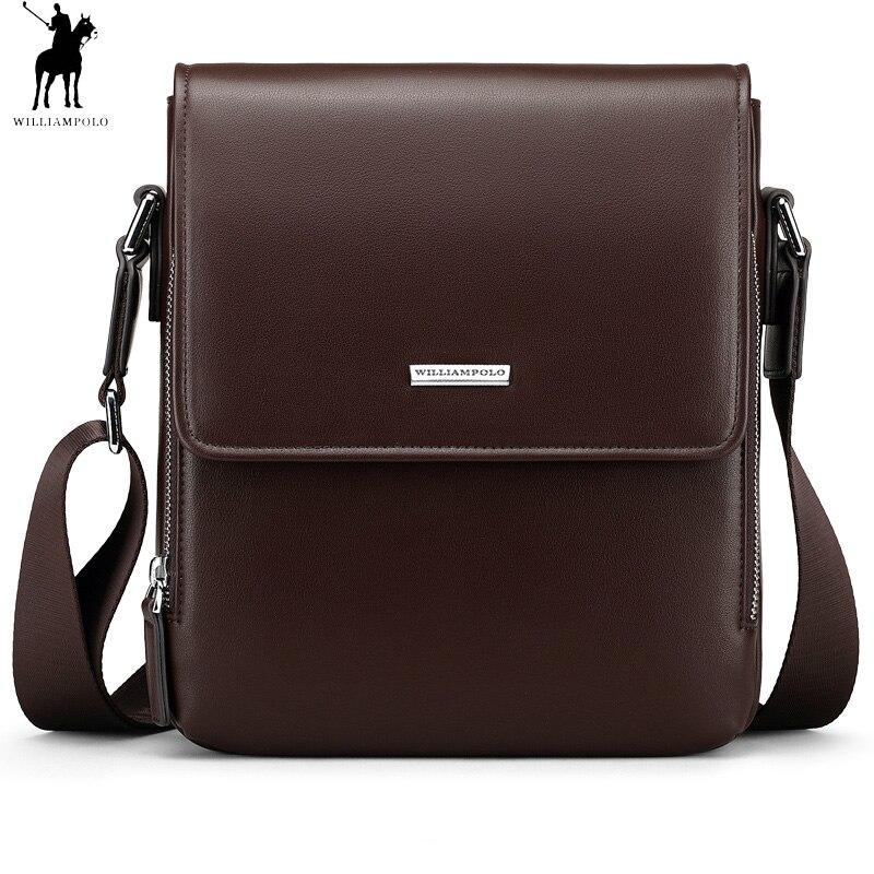 Men Vertical Leather Bag Messenger Business Briefcase High Quality Shoulder Bags