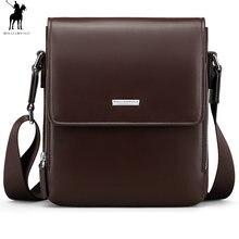 045af61472db WilliamPolo человек вертикальный пояса из натуральной кожи сумка для мужчин  мессенджер бизнес мужчин's портфели дизайнер сумки В..
