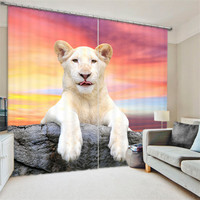 Polar bear 3D Blackout Window Curtains For Living room Bedding room Home Decor Tapestry Wall Carpet Drapes Cotinas