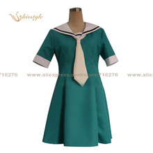 Kisstyle Fashion Higurashi When They Cry/Higurashi no Naku Koro ni Satoko Houjou Uniform Cosplay Costume,Customized Accepted(China)