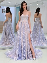 Strapless Evening dress Lace Long skirt Sexy off-the-shoulder Evening Dress Prom dress Tail lace off shoulder dress