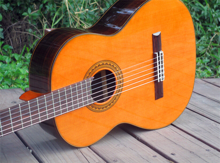 все цены на 39 inch Handmade Spanish guitar,VENDIMIA SOLID Cedar /Rosewood Acoustic guitarras+STRINGS, classical guitar with Nylon string