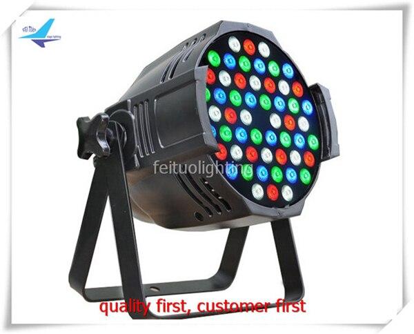free shipping 4pcs/lot China 54X3W LED RGBW PAR Light DMX Sound Active Stage DJ Lighting Par 64 Lumiere Wash Show Party Disco