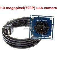 1.0 megapixel 720 P HD lente de 6mm câmera cmos OV9712 melhor usb laptop webcam driver livre
