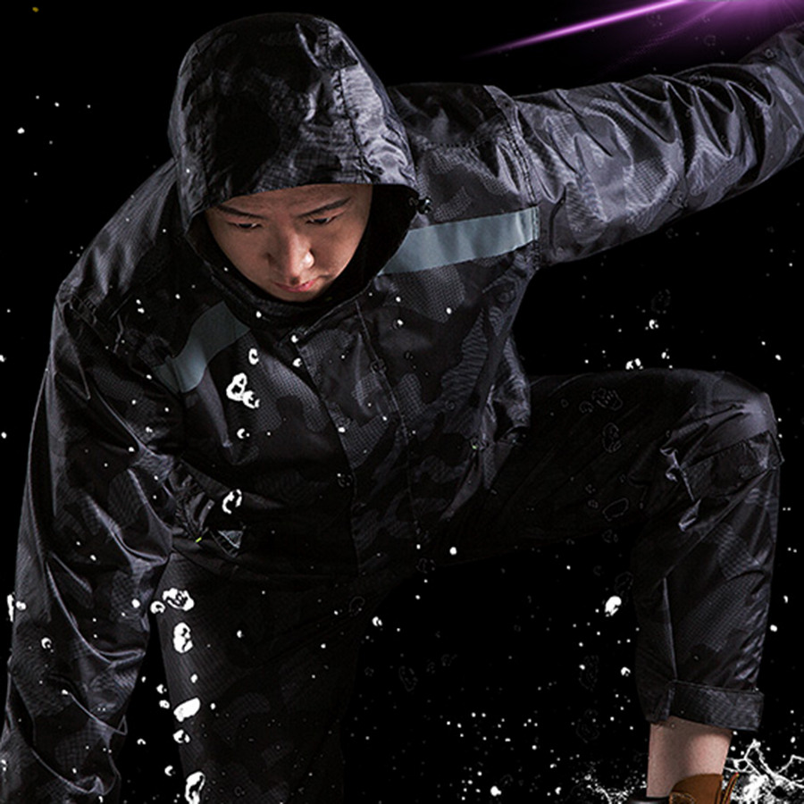 Waterproof Rain Coat Poncho Army Rain Hooded Jacket Rain Cover Protection Bike