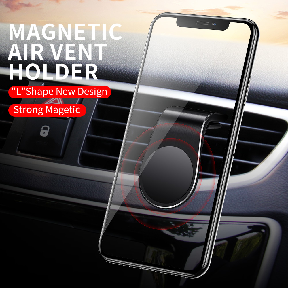 Image 2 - Rock Mental Magnetic Car Phone Holder Air Vent Mount Mobile Smartphone Stand Magnet Support Cell in Car For iPhone Samsung LG-in Phone Holders & Stands from Cellphones & Telecommunications
