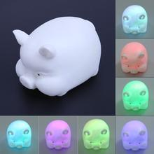 Cute LED Night Light Pig Shape Bedside Cute Lamp Kids Toys Christmas Gift Holiday Decoration Colorful