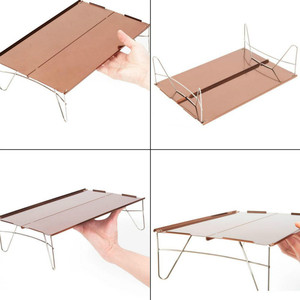 Image 4 - Outdoor Klaptafel Camping Aluminium Picknicktafel Mini ultralichte Duurzaam Klaptafel Bureau voor Picknick Outdoor Gereedschap