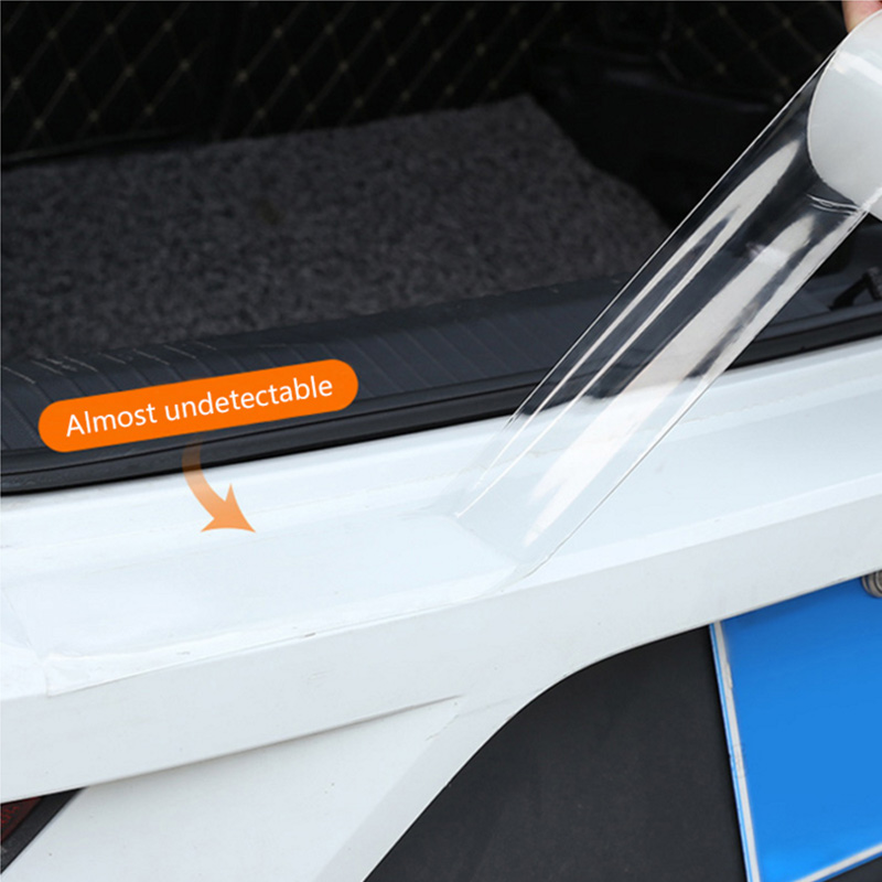 Image 3 - Car Stickers Auto Interior Protector Film Door Edge Protective Nano Glue Car Trunk Door Sill Full Body Sticker Vinyl Accessories-in Car Stickers from Automobiles & Motorcycles